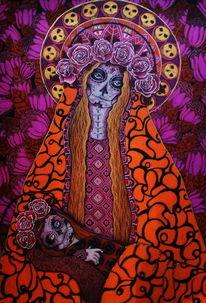Skelett, Zeit, Tod, Blumen