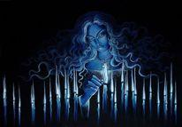 Wiedergeburt, Licht, Frau, Feuer