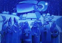 Winter, Engel, Blau, Schnee