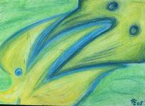 Fisch, Gelb, Blau, Vogel