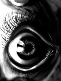 Freundin, Grau, Augen, Graffiti