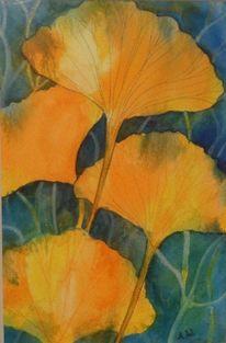 Pflanzen, Blätter, Malerei,