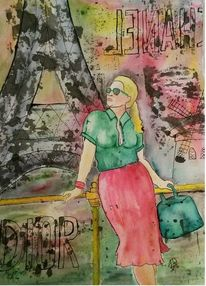 Shoppen, Frau, Feminin, Paris