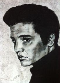 Schwarz weiß, Legende, Portraitzeichnung, Portrait