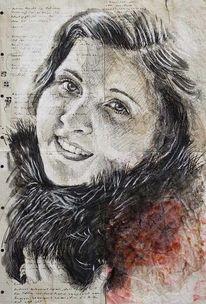 Portrait, Malerei, Illustration, Illustrationen