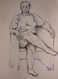 Weiblich, Zeichnung, Akt, Zeichnungen