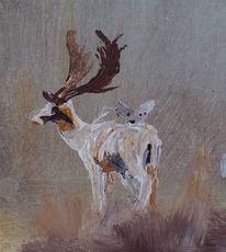 Geweih, Hirsch, Tiere, Malerei