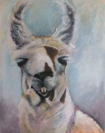 Tiere, Lama, Acrylmalerei, Malerei