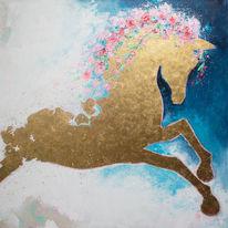 Pferde, Gold, Malerei