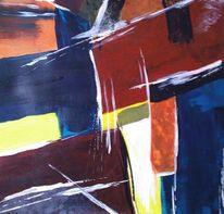 Abstrakt, Acrylmalerei, Frisch, Malerei