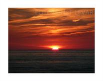 Sonne, Rot, Fotografie, Meer