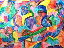 Bunt, Farben, Figur, Fantasie
