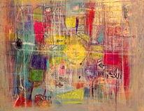 Glanz, Collage, Leichtigkeit, Malerei