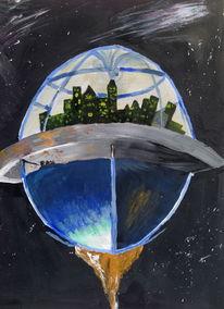 Malerei, Raumschiff