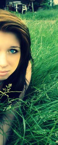 Gesicht, Frau, Wiese, Blaue augen