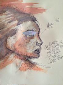 Zeichnung, Menschen, Portrait, Hoffnung