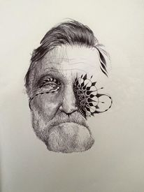 Portrait, Gesicht, Menschen, Illustration