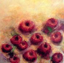Apfel, Früchte, Acrylmalerei, Rot
