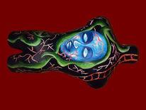 Torso, Figur, Fantasie, Acrylmalerei