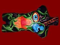 Acrylmalerei, Torso, Figur, Fantasie