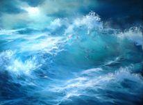 Meerlandschaft, Herbst, Welle, Licht