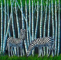 Fantasie, Malerei, Birkenwald