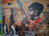 Tiere, Afrika, Malerei