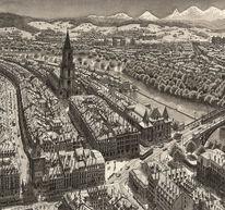 Stadt, Landschaft, Bern, Realismus