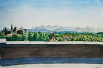 Bergen, Gemälde, Realismus, Schweiz