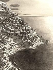 Italien, Architektur, Cinque terre, Küste