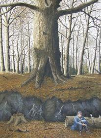 Sonne, Baum, Realismus, Gold
