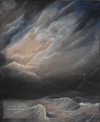 Dunkel, Meer, See, Sturm
