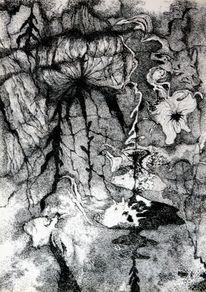 Traum, Lebewesen, Anderswo, Zeichnungen