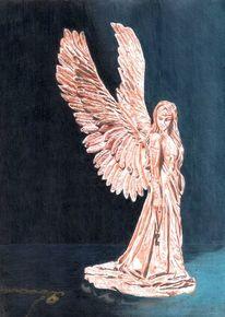 Flügel, Kette, Dunkel, Schlüssel