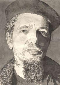 Mütze, Bart, Mann, Portrait