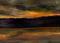 Untergang, Dorf, Wolken, Sonne