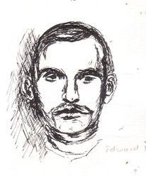 Menschen, Haare, Zeichnung, Portrait
