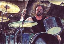 Mann, Trommler, Schlagzeug, Musik