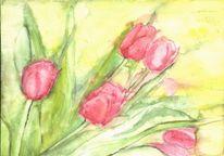 Blätter, Natur, Garten, Tulpen