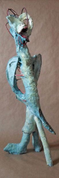 Fantasiefigur, Skulptur, Blau, Temperamalerei