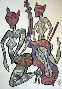 Zeichnungen, Cello