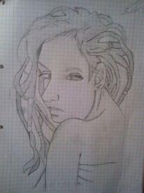 Frau, Zeichnungen, Herz, Seele