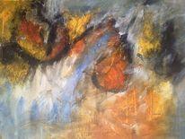 Acrylmalerei, Elfenteins, Augen, Abstrakte kunst