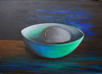 Acrylmalerei, Schale, Malerei,