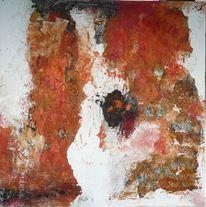 Malerei, Orange, Schwarz, Rost