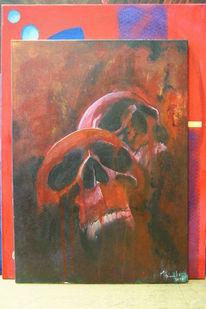 Tod, Schädel, Acrylmalerei, Vergänglichkeit