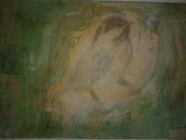 Malerei, Hand, Spatz