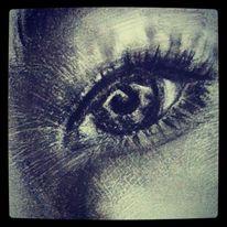 Portrait, Augen, Realismus, Bleistiftzeichnung