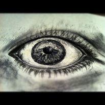 Augen, Realismus, Bleistiftzeichnung, Zeichnungen