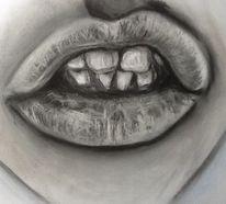 Pastellmalerei, Gesicht, Kohlezeichnung, Zeichnung